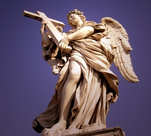 Angel sculpture from the Ponte Sant'Angelo, Rome. By Gian Lorenzo Bernini