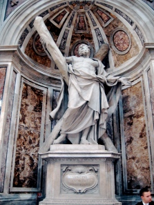 Statue of St. Andrew St. Peter's Basilica Vatican City