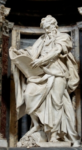 Statue of St. Matthew from the Archbasilica of St. John Lateran in the Vatican