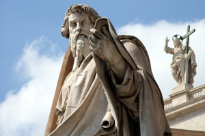 Statue of St. Paul St. Peter's Square