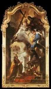 """""""Pope St. Clement Adoring the Trinity"""" by Giovanni Battista Tiepolo"""