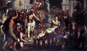 """The Martyrdom of St. Lawrence"" by Giacomo dall'Orio"