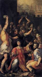 """The Martyrdom of St. Stephen"" by Giorgio Vasari"