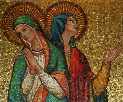 Mosaic of Sts. Perpetua and Felicity from the National Shrine of the Immaculate Conception, Washington DC