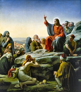 """The Sermon on the Mount""  by Carl Heinrich Bloch, 1876"