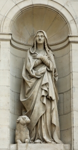 Statue of St. Genevieve in Paris