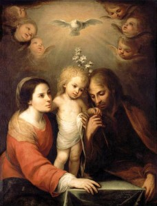 """Holy Family"" by Juan Simon Gutierrez, 1680"