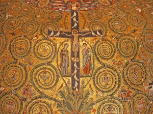 Mosaic in the Basilica of Saint Clement in Rome