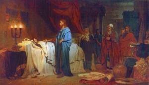 """""""The Raising of Jairus' Daughter"""" by Ilya Repin, 1871"""
